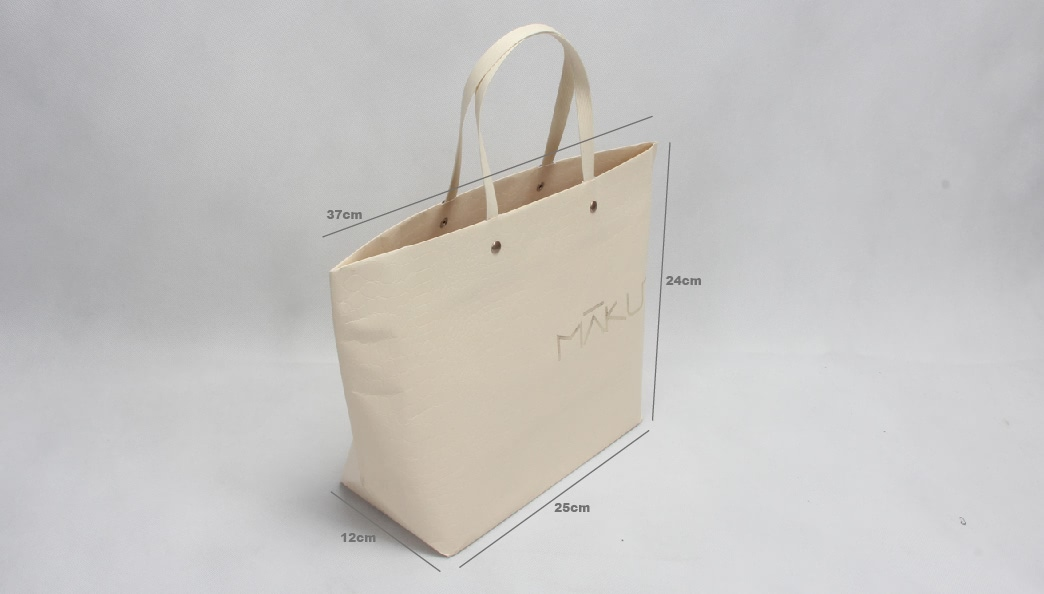 Beige Gift Paper Bags With Paper Handles Size