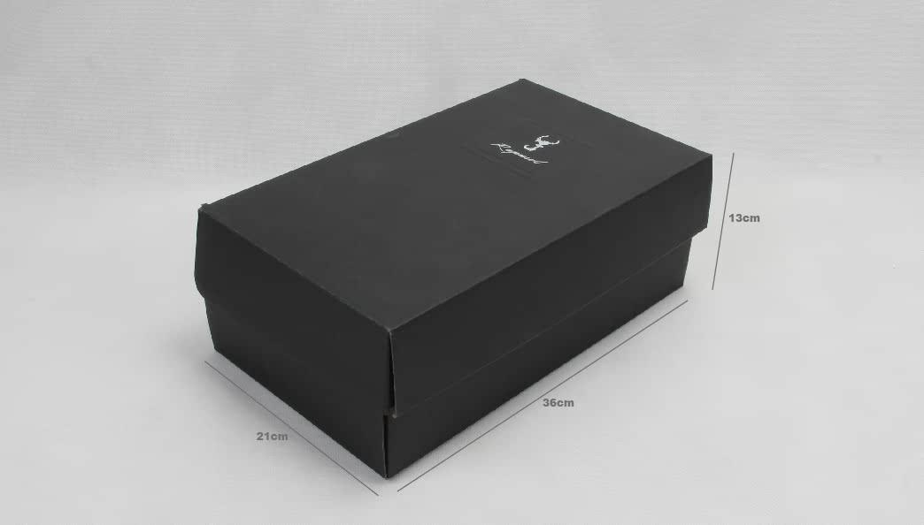 Black Corrugated Shoe Boxes Size