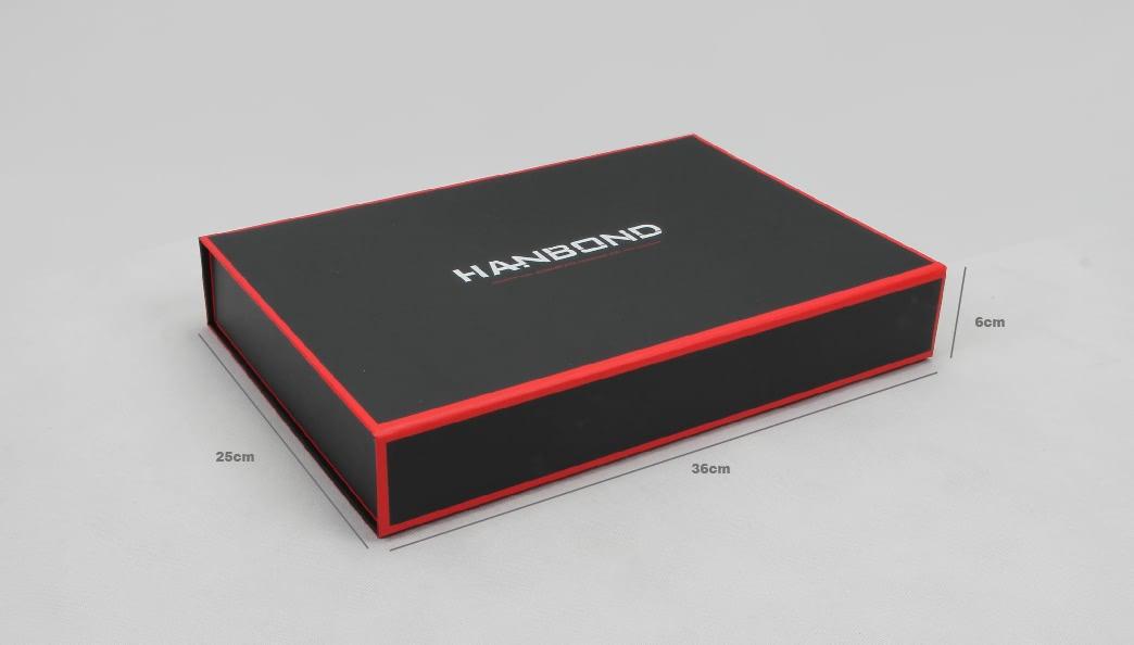 Red Inlaid Dark Shirt Packaging Folding Boxe Size
