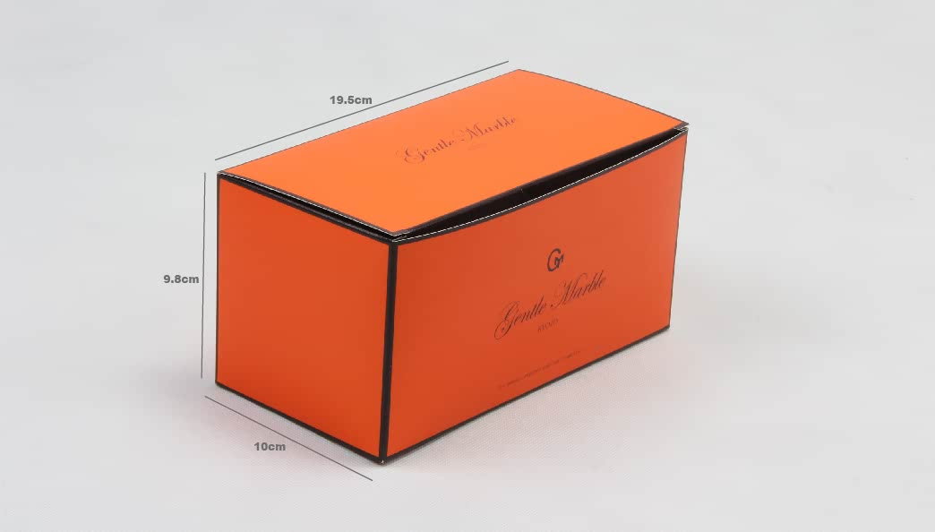 Bright Orange Gift Packaging Boxes Size