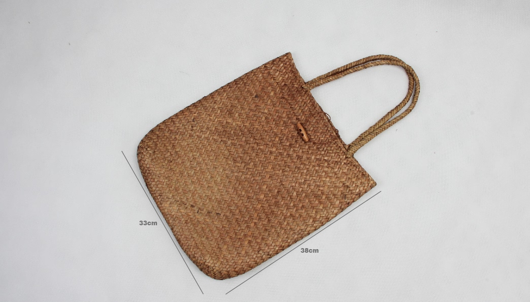 Casual Woven Straw Beach Bags Size