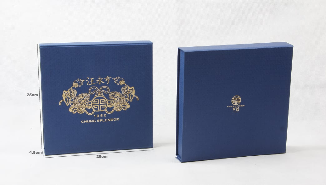 Century Brand Deep Blue Scarf boxes Size