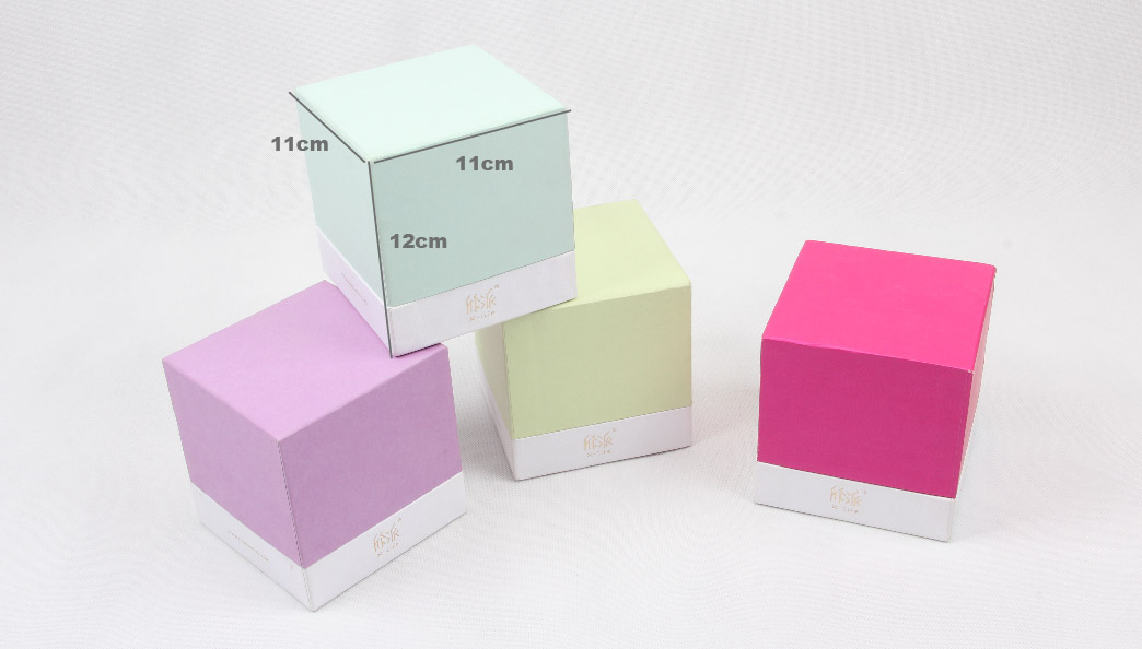 Colorful Candle Packaging Boxes With Lid Size