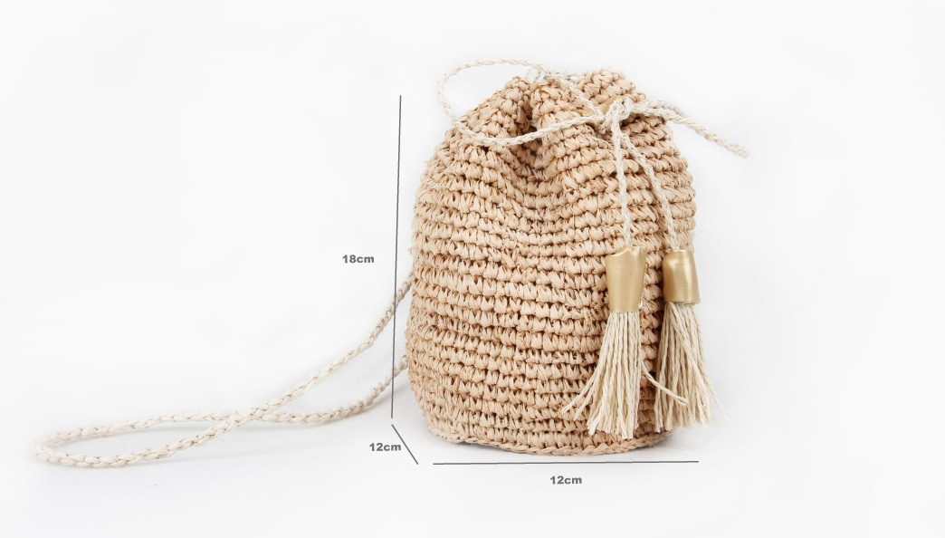 Custom Fashion Straw Bag Straw Pouches Size