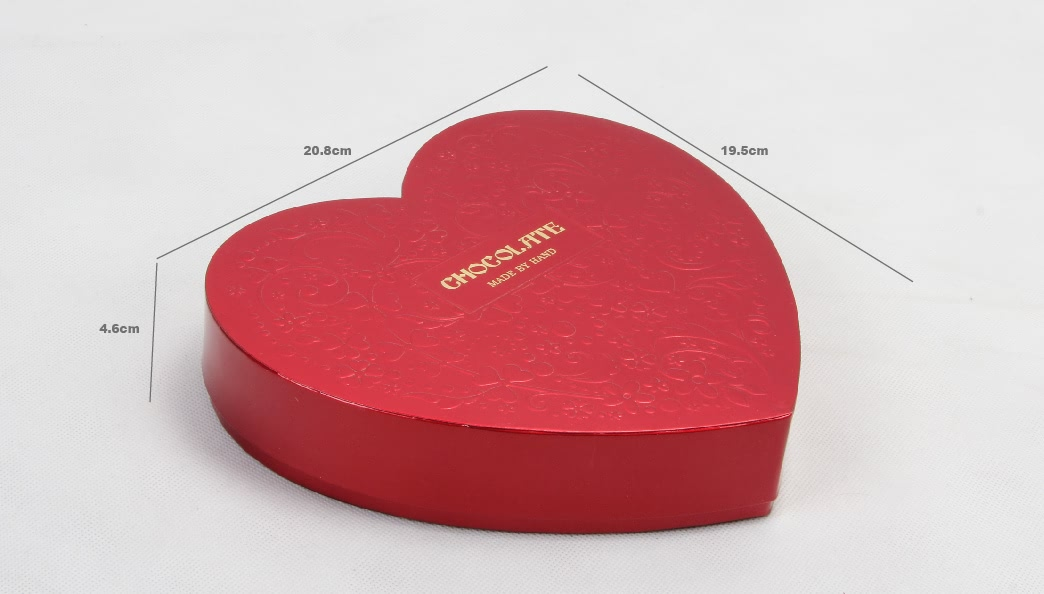 Dazzling Love Heart Shaped Chocolate Gift Boxes Size
