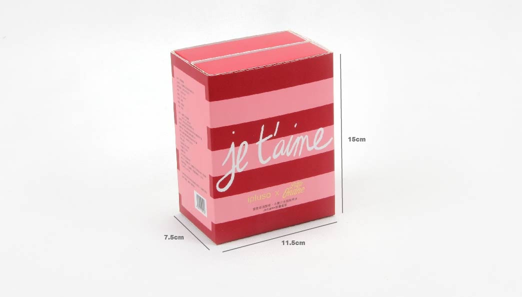 Double Layers Stripes Gift Paper Boxes With Sleeves Size