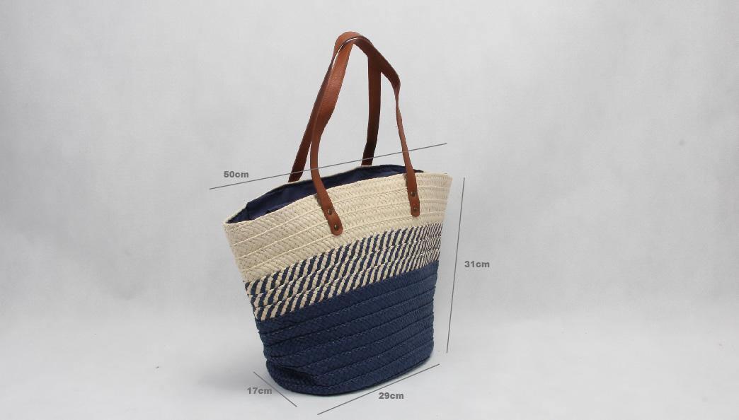 ECO-friendly Straw Stalk Woven Beach Bags Size