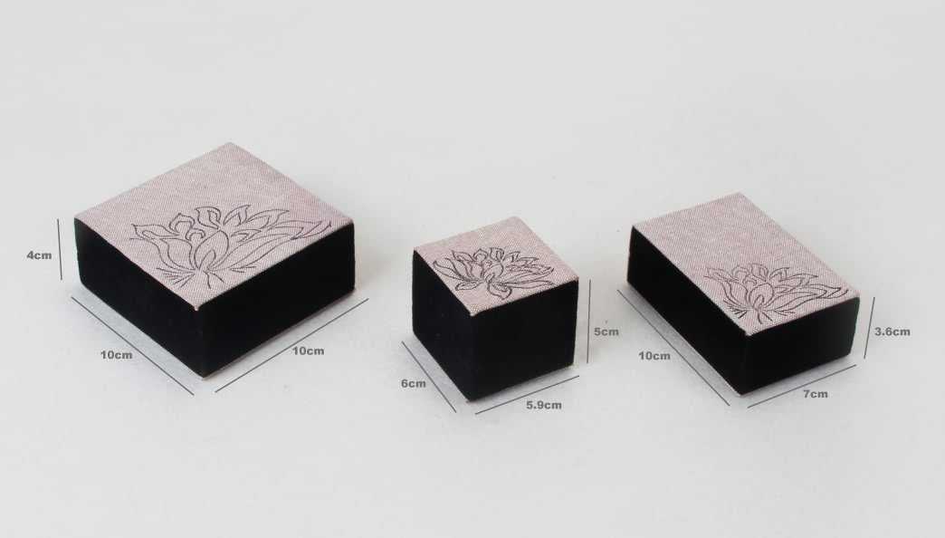 Floral Pattern Jewelry Boxes Set Size