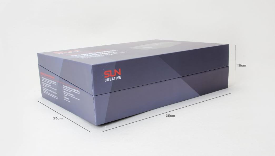 Grey Flip Electronic Products Box Size