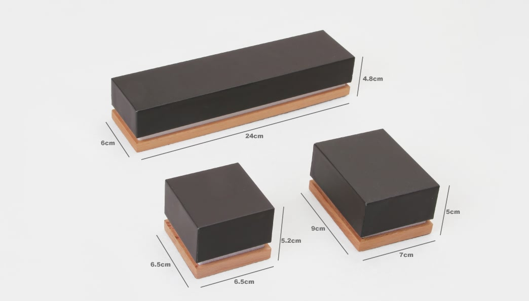 High Grade Brown Jewelry Boxes Set Size