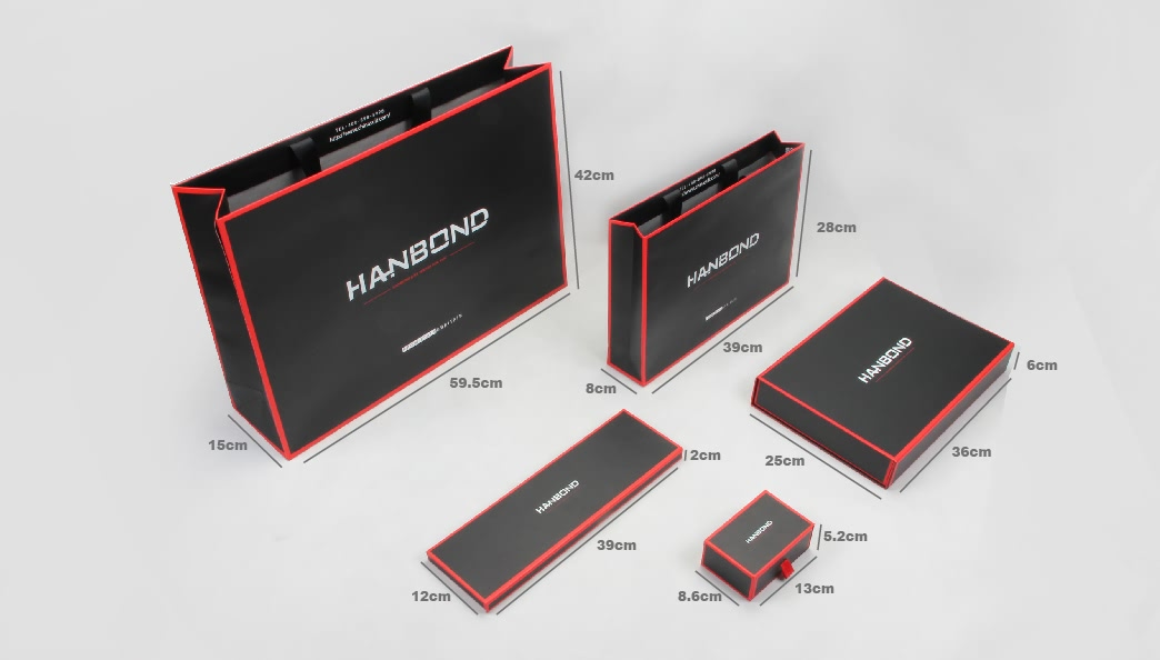 Luxury Black Garment Boxes&Bags Set Size