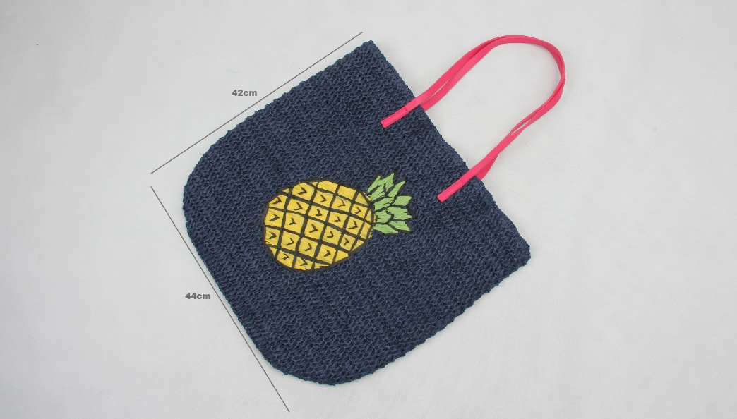 Paper String Woven Bags Straw Tote Bags Size