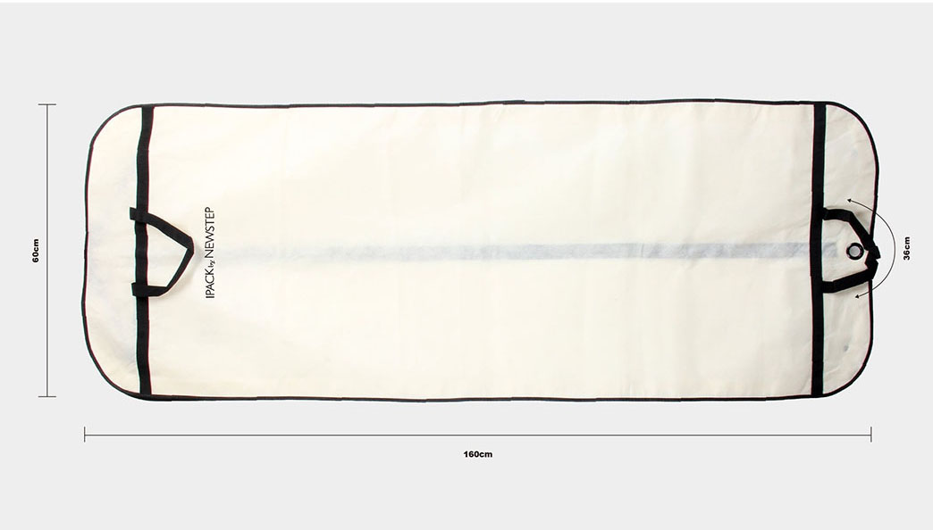 Reusable Transparent Garment PE Tote Bags Size