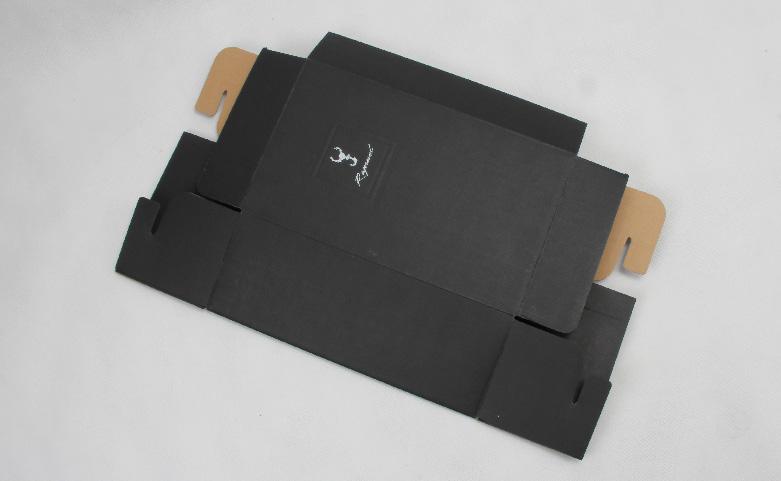 Black Corrugated Shoe Boxes Folding