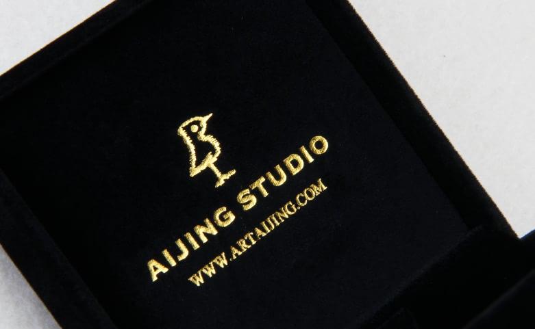 Black Flannel Jewelry Boxes Logo