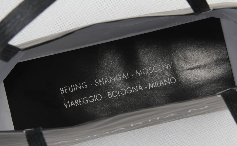 Black Garment Paper Bags With Flat Paper Handles Print