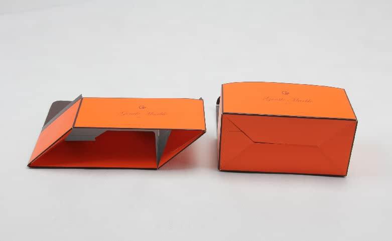 Bright Orange Gift Packaging Boxes Folding