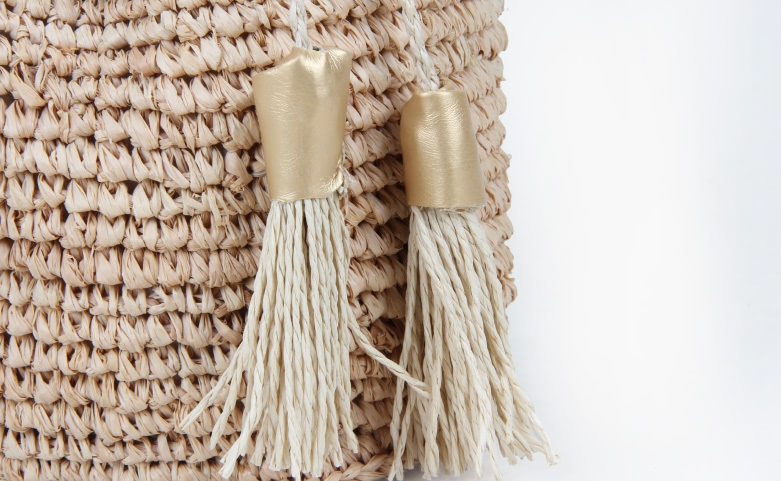 Custom Fashion Straw Bag Straw Pouches Tassel