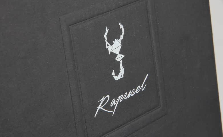 Black Corrugated Shoe Boxes Logo