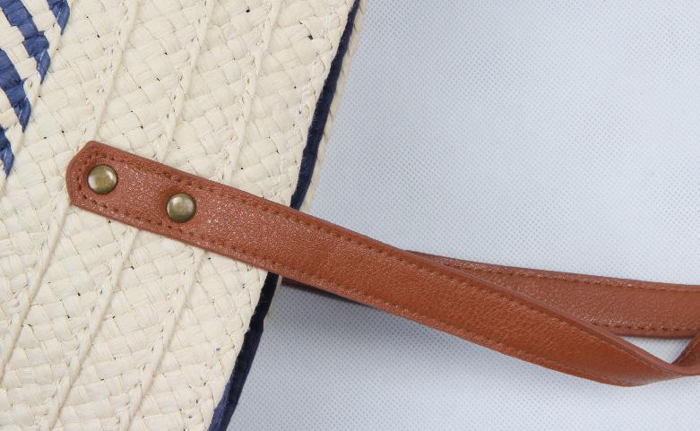 ECO-friendly Straw Stalk Woven Beach Bags Handle