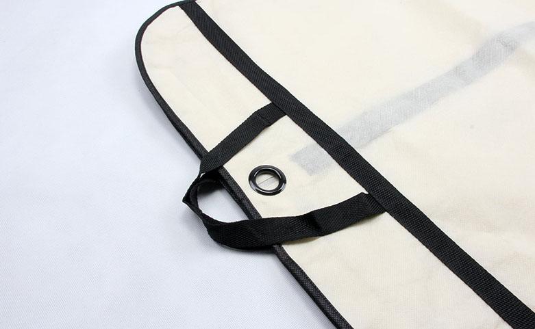Reusable Transparent Garment PE Tote Bags Detail
