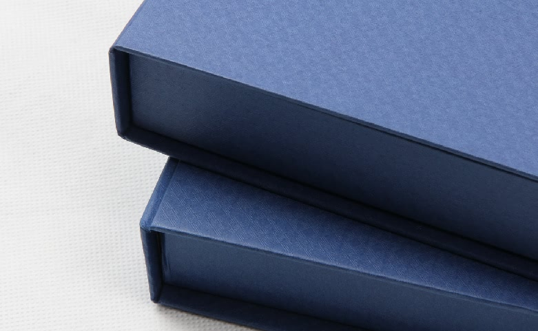 Century Brand Deep Blue Scarf boxes Detail