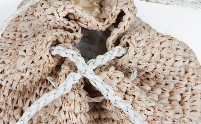 Custom Fashion Straw Bag Straw Pouches Top