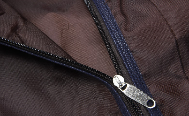 Metal Studded Leather Garment Suit Cover Bags Detail