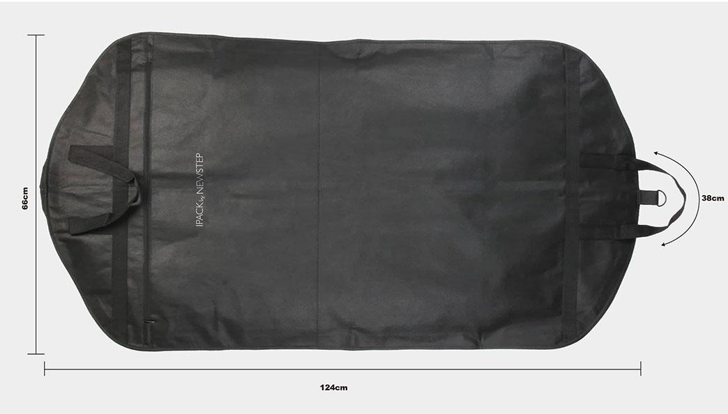 Black Non-woven Garment Suit Cover Bags size