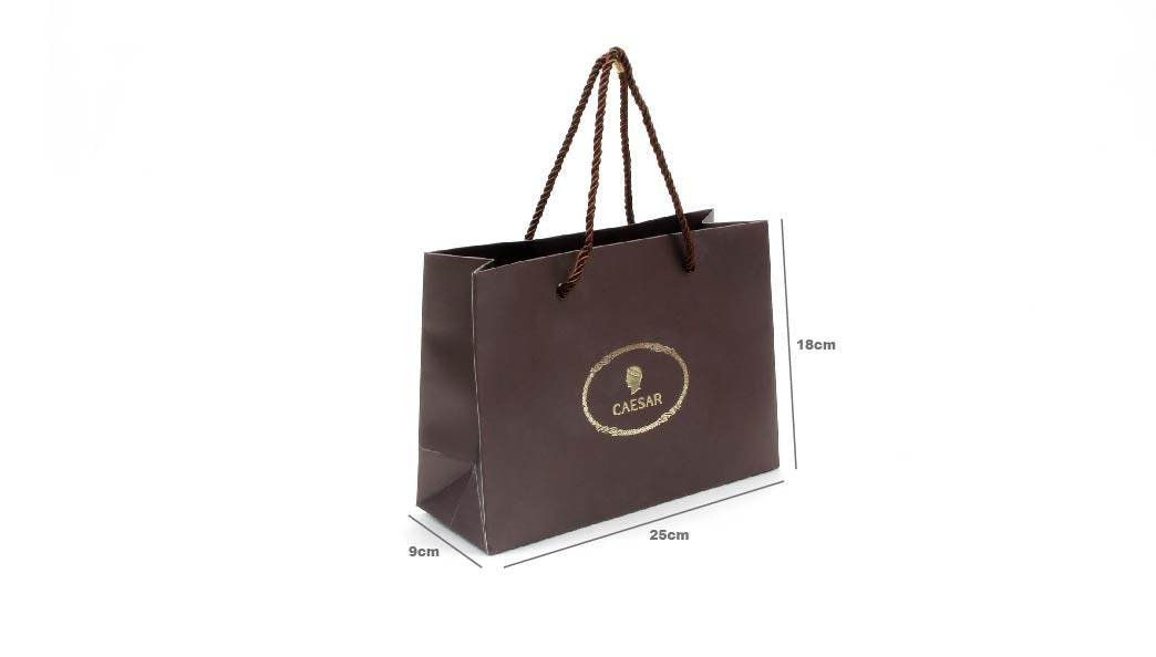 Brown Chocolate Gift Paper Bags size
