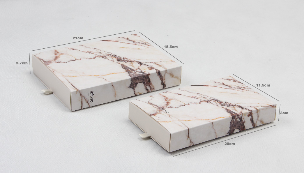 Marble Printed Pens Gift Packaging Boxes Set Size