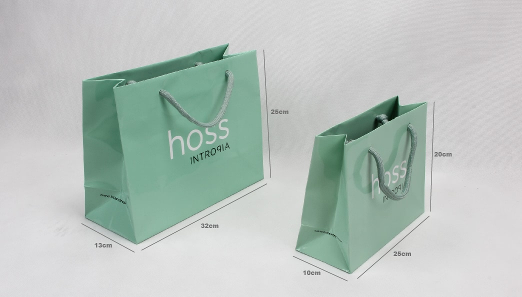 Cadmium Green Cosmetic Paper Bags Set size