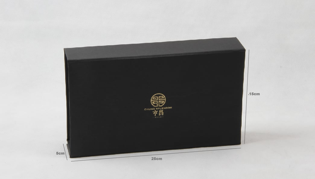Century Brand Black Gold Scarf Packaging Boxes Size