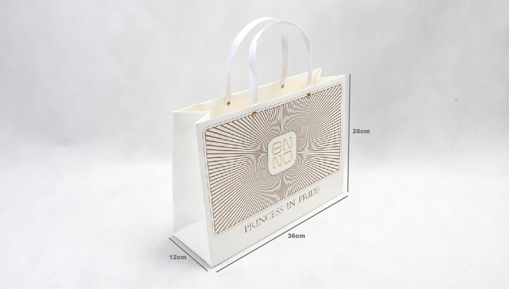 Chic Design White Kraft Gift Bags size
