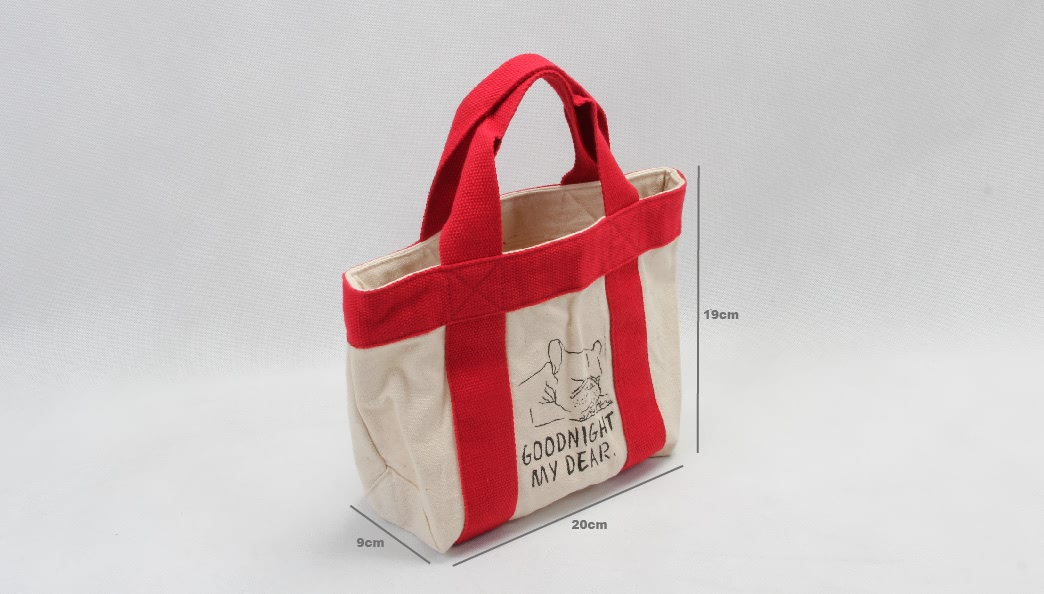 Chic Portable Canvas Food Picnic Lunch Bags size