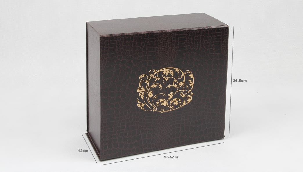 Leather Paper Garment Packaging Boxes Size