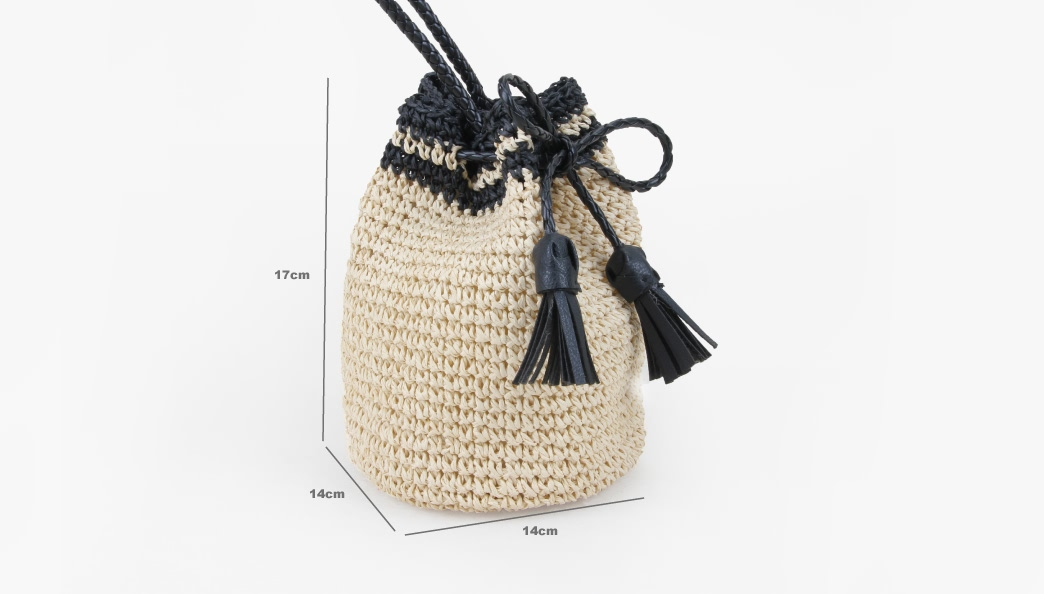 Custom Handmade Straw Pouches Bag size