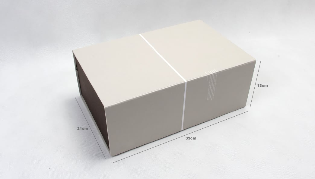 Deluxe Grey Folding Shoe Gift Boxes Size