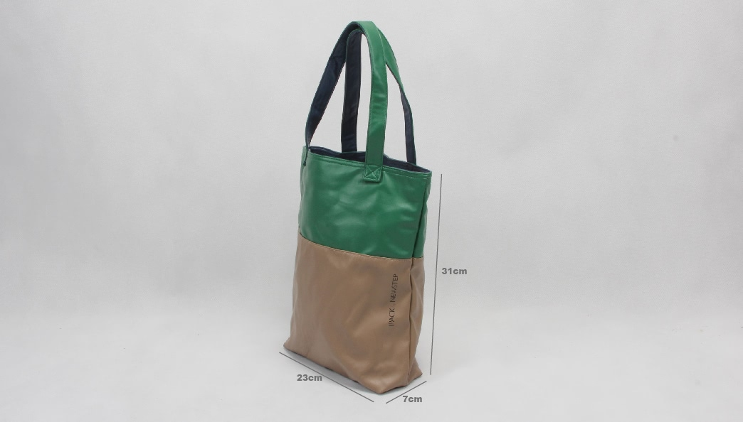 Double-Sided PU Canvas Bags size
