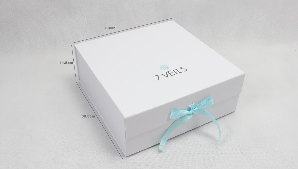 Exclusive Folding Garment Boxes With Ribbon size