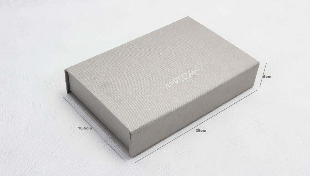 Grey Kraft Paper Folding Business Shirt Boxes size