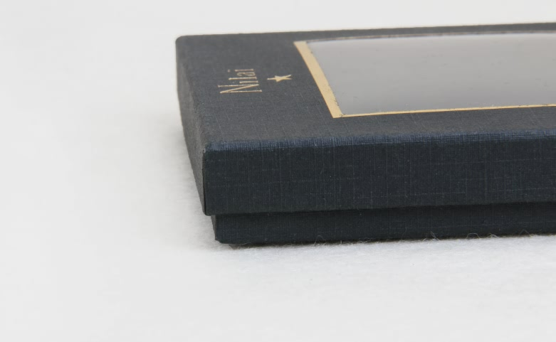 Black Jewelry Boxes With Transparent Window Detail