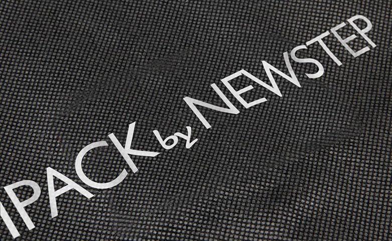 Black Non-woven Garment Suit Cover Bags logo