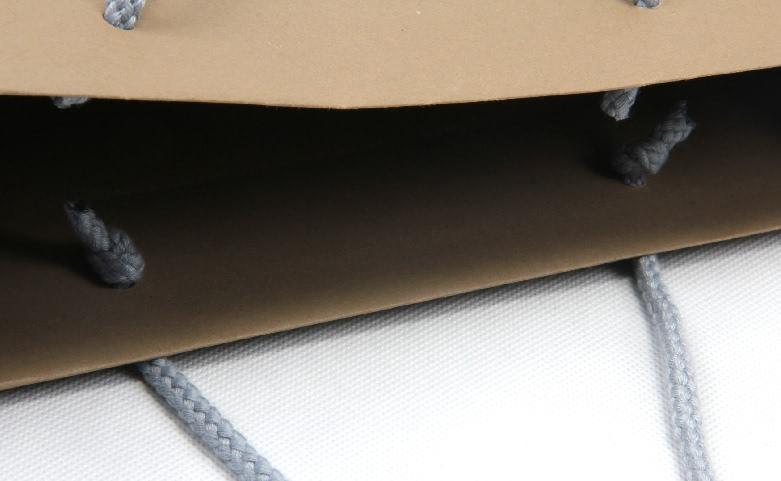 Brown Kraft Garment Paper Carrier Bags open