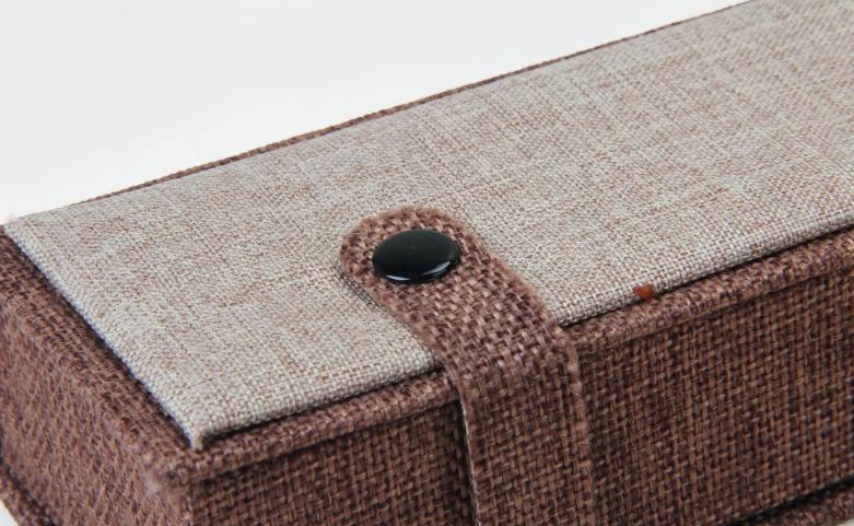 High Grade Imitation Hemp Jewelry Boxes Set detail