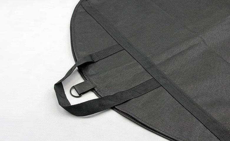 Black Non-woven Garment Suit Cover Bags handle