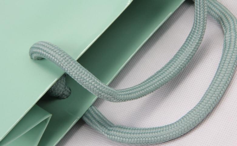 Cadmium Green Cosmetic Paper Bags Set handle
