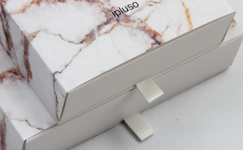 Marble Printed Pens Gift Packaging Boxes Set Ribbons