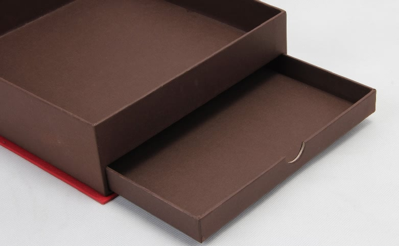 Double Layer Drawer Gift Boxes With Hinged Lid detail