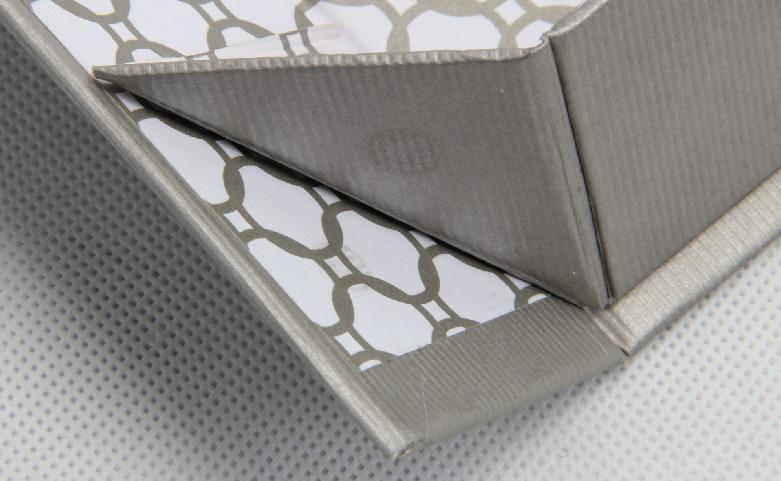 Grey Kraft Paper Folding Business Shirt Boxes Detail